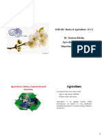 Agronomy Lecture 1 & 2