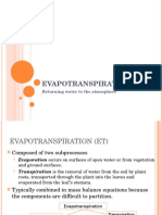 Evapotranspiration 2016