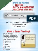 Brand Tracking Studies