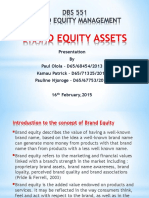 DBS 551 Brand Equity Management
