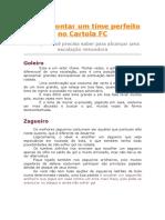 Como Montar Um Time Perfeito No Cartola FC