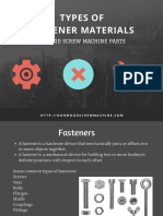 Fastener Materials Selection - Types of Fastener Material