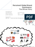 Global Brand Dominance - Africa's Story