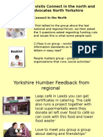 For 26th 27th Oct National Forum From Yorkshire and Humber