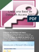 creación de una base de datos en access 2007