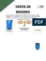 Venta de Bidones