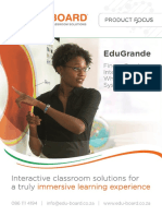 EduGrande Large Interactive Whiteboard Brochure April 2016