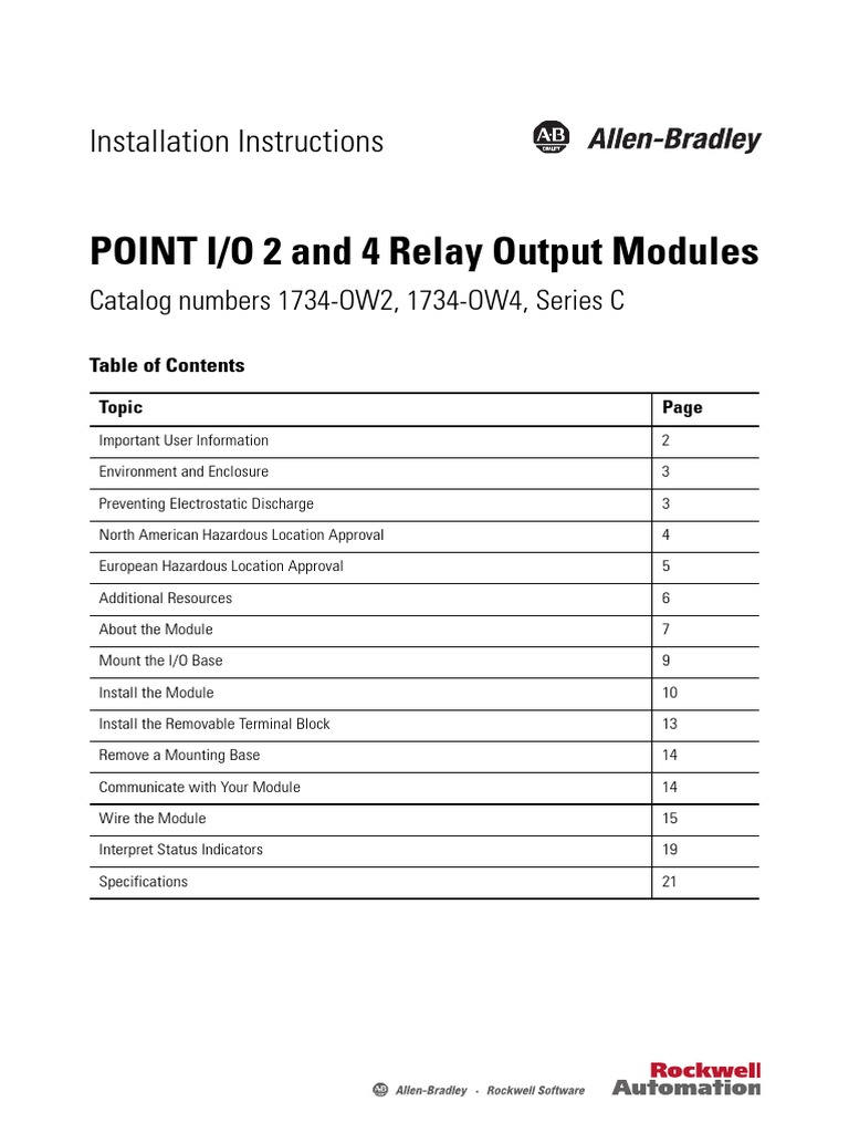 1734 in055 en e point io 2 and 4 relay output modules rh scribd com