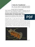 Conservator Tank of a Transformer