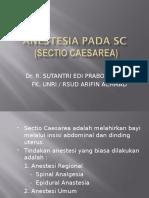 Anestesi Pada Sectio Caesaria