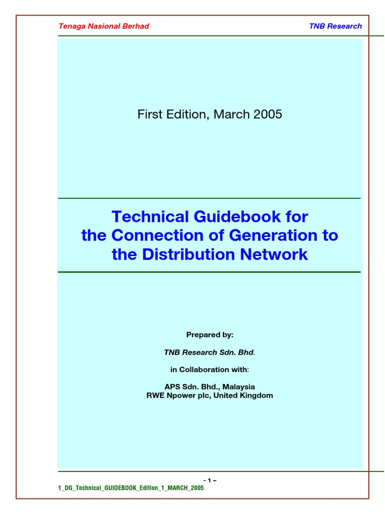 99883283-TNB-Tech-Guidebook-for-the-Connection-of-Generation-to-the ...