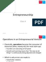 Class 4 Entrepreneurship