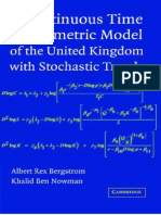 Albert Rex Bergstrom, Khalid Ben Nowman-A Continuous Time Econometric Model of the United Kingdom With Stochastic Trends (2007)