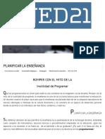Planificar La Enseñanza - Ined21