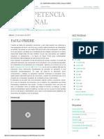 La Competencia Emocional_ Paulo Freire