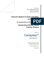 Colstrip 1&2 B Flyash Pond CCR Inflow Design Flood Control System Plan October 2016 BFA