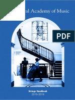 Strings Department Handbook 2015-16