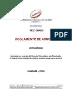 REGLAMENTO DE ADMISIÓN