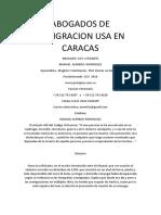 Abogados de Inmigracion Usa en Caracas