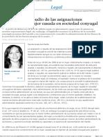 Aceptación o repudio de las asignaciones deferidas a la mujer casada en sociedad conyugal - EML