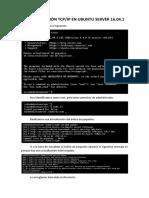 Configuración Tcp-ip en Ubuntu Server