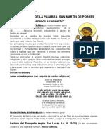 Celebracion de La Palabra, Sn. Martín de Porres