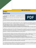 Chek List en Excell (Exportador f y G)