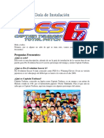Guía de Instalación PES 6 Captain Tsubasa Total Patch
