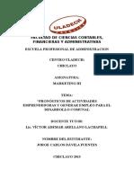 Pronósticos de Actividades Emprendedoras y Generar Empleo Para El Desarrollo Comunal