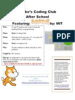 coding club flyer