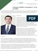 Concepto de documento público extranjero en la Convención de Apostilla - EML