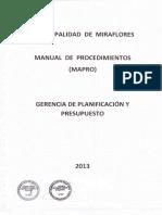 5000-10040-Mapro 2013 Gerencia Planificacion Presupuesto