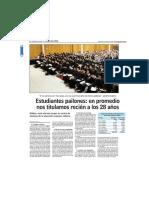 Estudiantes Pailones_ en Promedio Nos t...Mos Recién a Los 28 Años - Www.lun