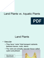 Land Plants vs Aquatic Plants