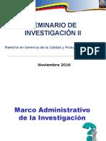 Marco Administrativo de La Investigación.
