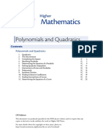 polynomials and quadratics hsn