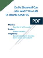 Instalación de Shorewall con una Interfaz WAN y Una LAN en Ubuntu