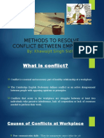 Methods to Resolve Conflicts Between Employees- Presentation