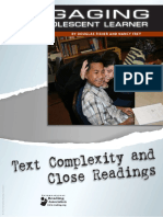 Engaging the Adolescent Learner (2012) Text Complexity and Close Readings