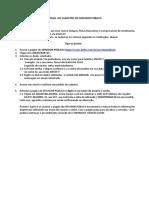Manual Do Cadastro Do Servidor Público