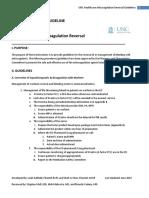 UNCH Anticoagulation Reversal Guideline June 2014