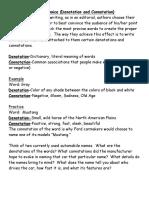 word choice  denotation and connotation
