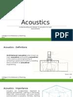 Acoustics- ANU - II Year (1)