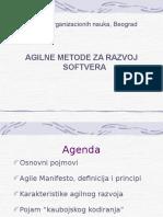 Agilne Metode Za Razvoj Softvera