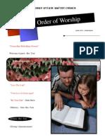 Order of Worship 06 20 2010 v1