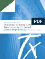 Principios Orientadores NIDA Para Programas en Población Vinculada a Justicia (Comisión de Delitos)