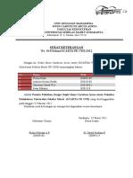 Surat Keterangan Pelatihan Design Grafis I