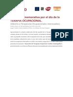 Charla Conmemorativa Por El Día de La TERAPIA OCUPACIONAL El Pino