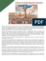 El Gobierno Del Terror en La Revolución Francesa