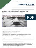 Degolar_ é a Nova Segurança Do PMDB e Do PSDB — Conversa Afiada